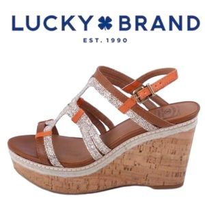 Lucky Brand • New Keena Snakeskin Wedge Sandals